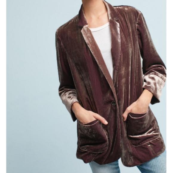 Anthropologie Jackets & Blazers - Anthropologie Cartonnier Iridescent Velvet Blazer